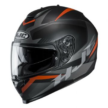 HJC C70 Troky Orange Full Face Sun Visor Motorcycle Motorbike Helmet - Medium